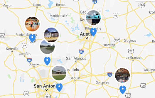 Home Page - Texas Dance Hall Preservation Dance Map on